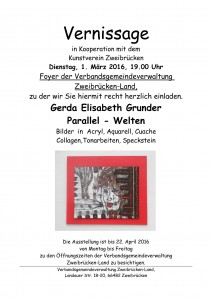 Einladung Vernissage